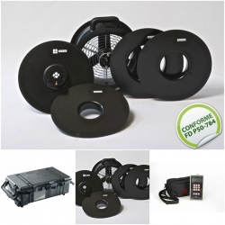 Etalonnage Minifan + mise à disposition valise de transport, ventilateur et DG700