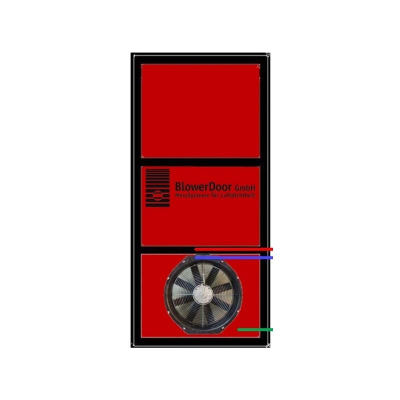 Blowerdoor - bâche 1 trou taille standard